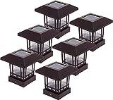 6 Pack Westinghouse Solar 20 Lumens Post Cap Light for 4 x 4 Wood Posts (Remington Bronze)