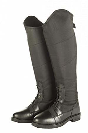 f39db635956be5 HKM Ladies Junior Style Winter Waterproof Elasticated Insert Horse Riding  Boots
