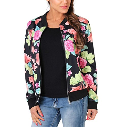 MChoice Fashion Womens Long Sleeve Floral Blazer Suit Casual Jacket Coat Outwear (XXL, Multicolor)
