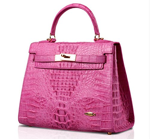 Authentic Crocodile Skin Bag for Women (pink)
