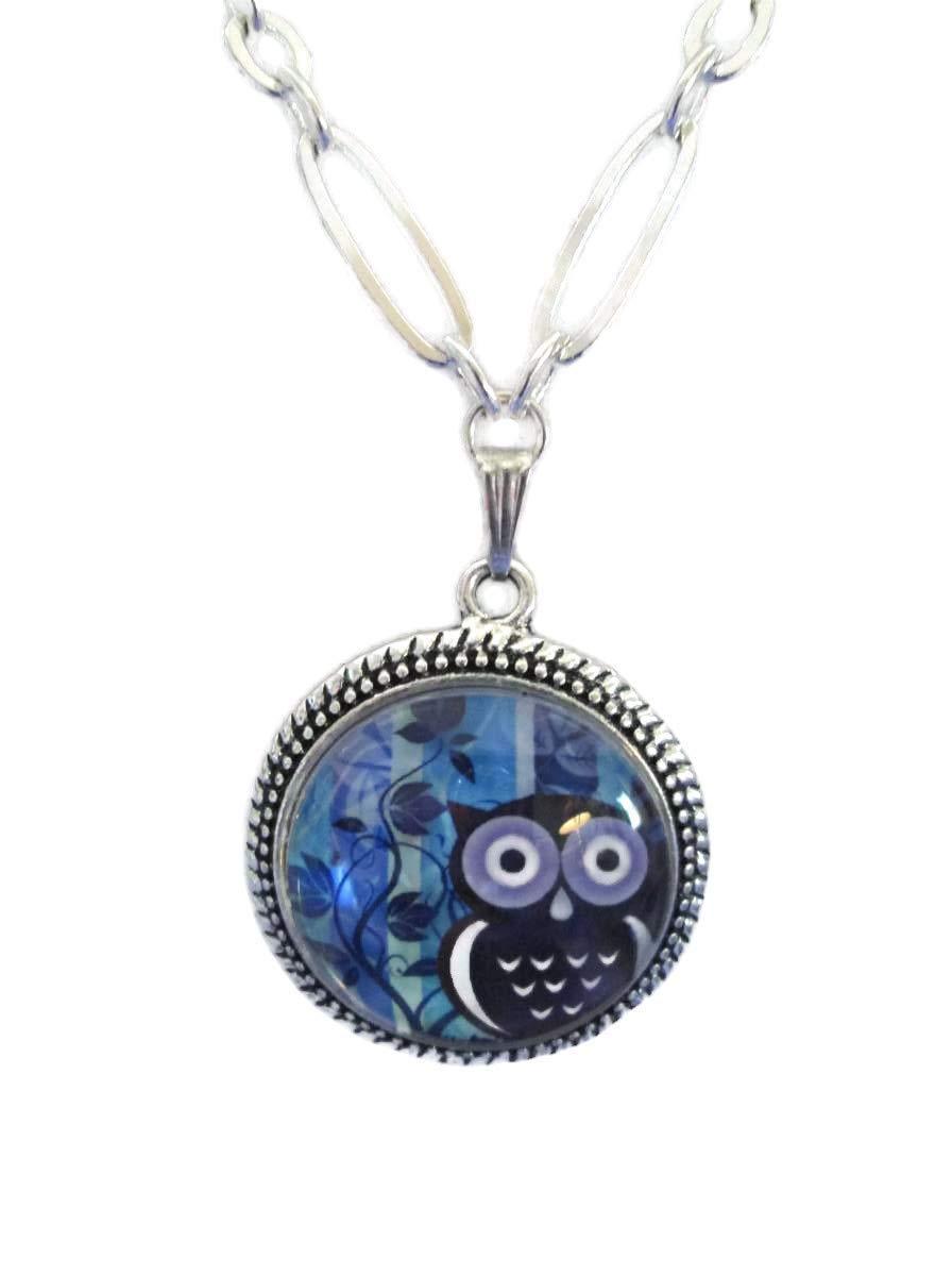 Owl necklace purple owl pendants owl jewelry owl necklace