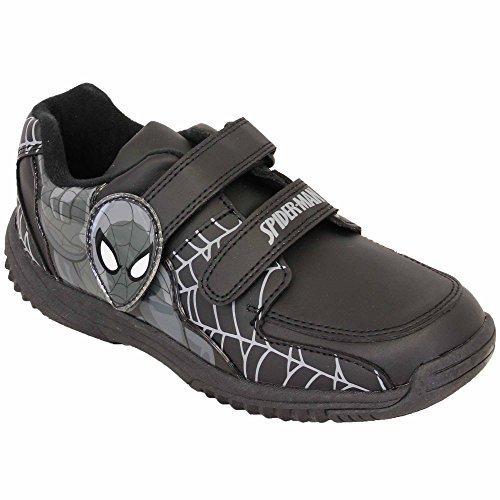 schwarz einfach Jungen Kinder Marvel Minions spidermanb Sport Jugend Schulschuhe unverbesserlich Spiderman Turnschuhe xqXqRwBv7