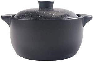 LIUSHI Casserole Cookware Round Covered Casserole Clay Material Slow Cooker with Dual Handles and Lids Great for Cooking (Size : 2L)
