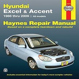 hundai excel accent 1986 thru 2009 all models haynes repair rh amazon com 2009 hyundai accent manual mpg 2009 hyundai accent manual pdf