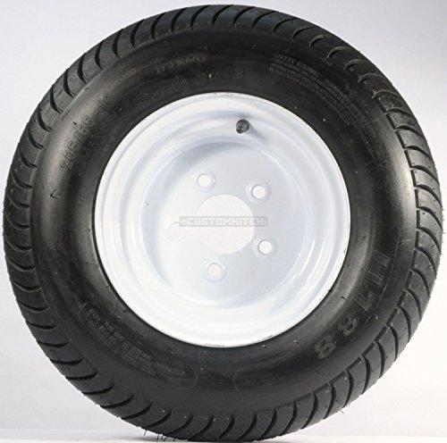 Trailer Tire + Rim 20.5 X 8 X 10 205/65-10 20.5/8-10 20.5/800-10 5 Lug White