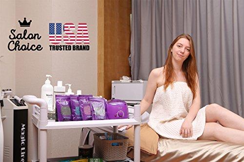 [FDA Certified]Yeelen Hair Removal Hot Wax Warmer Waxing Kit Wax Melts + 4 Flavors Hard Wax Beans + 10 Wax Applicator Sticks