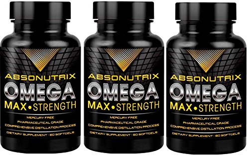 2 bottles-Absonutrix Omega 3 Max Strength Fish Oil EPA-800 D