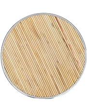 OSALADI Bamboe Knoedel Mand Huishouden Non-Stick Knoedel Opbergvak Voor Het Koken Van Knoedels Noedels en Andere Traditionele Chinese Pasta Gereedschappen Hout Kleur