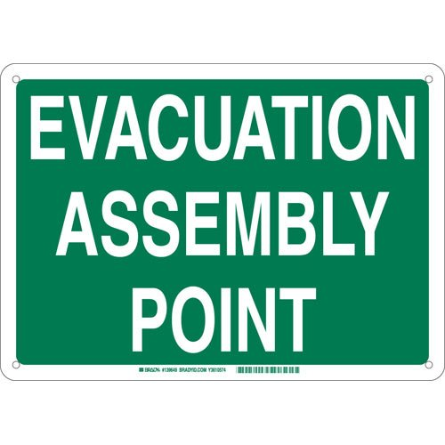 Evacuation Assembly - Brady 139655 Aluminum