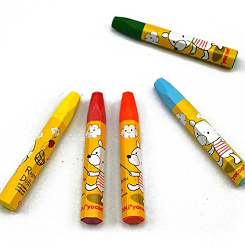 Slendima Sale! 12 Colors Non Toxic Oil Pastels Wax Crayons Children Kids Students Xmas Gifts