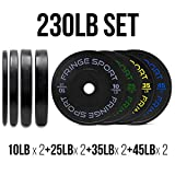 OneFitWonder Contrast Lettering Bumper Plate Sets Different Weight Pair Sets (230)