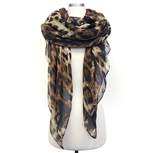 Heart Leopard Thin Scarf (All Colors Available)