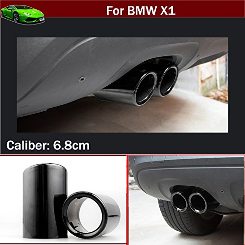 - 2pcs Black Color Stainless Steel Exhaust Muffler Rear Tail Pipe Tip Tailpipe Extension Pipes Custom Fit for BMW X1 2009 2010 2011 2012 2013 2014 2015 2016 2017 2018 2019 2020