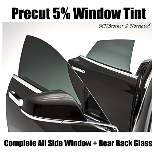 93-97 Toyota Corolla 5% VLT Limo Dark Black Computer Precut Complete Window Tint Film (Corolla Computer)