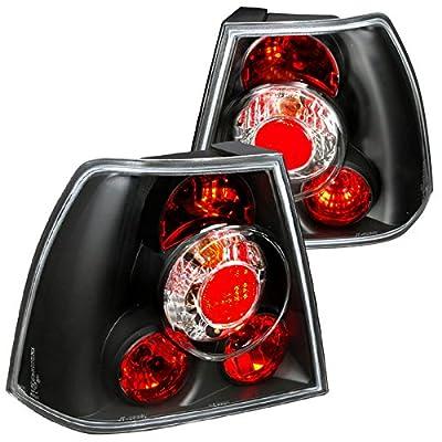 Spec-D Tuning LT-JET99JM-TM Volkswagen Jetta Bora Mk4 Black Euro Altezza Tail Lights: Automotive [5Bkhe1011281]