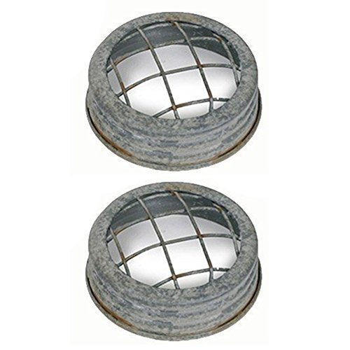 Colonial Tin Works Mason Jar Lid - Flower Frog - Barn roof Wire Set of 2. Each Lid is 3 Inches in Diameter by .75 Inches Tall]()