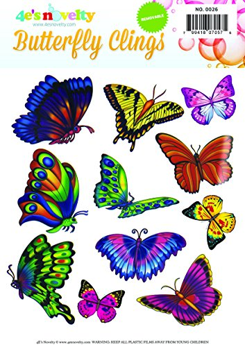 Butterfly Clings (Easy Instant removable Butterfly Window Clings)