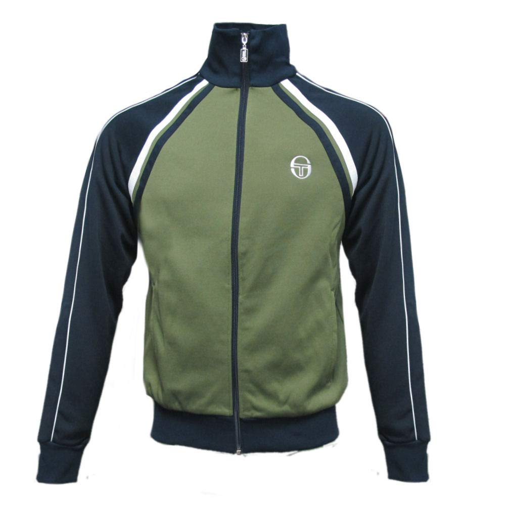 Sergio Tacchini Men's Logo Track Jacket, Green, Small