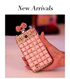 Fashion Bonzer Bling Diamond Cristal Bow Bowknot Slot Card Flip Case Cover Skin For Samsung Galaxy Note 2 3 S3 S4 Apple iPhone 4 4S 5 5S Phone (For_Samsung_Galaxy_S4_i9500)