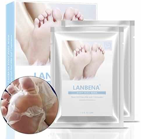 LANBENA Foot Peel Baby-Soft Feet Callus Remover Dead Skin Remover Foot Mask Get Baby-soft Feet in One Week(2 pairs)