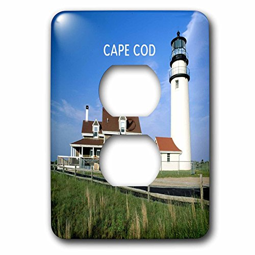 3dRose LLC lsp_80839_6 Lighthouse On Cape Cod In Massachusetts 2 Plug Outlet Cover