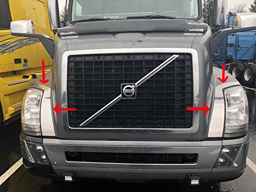Longroadaccess Volvo VNL 670-780 Chrome Fender Guard Trim Stainless Steel (2004-2016)