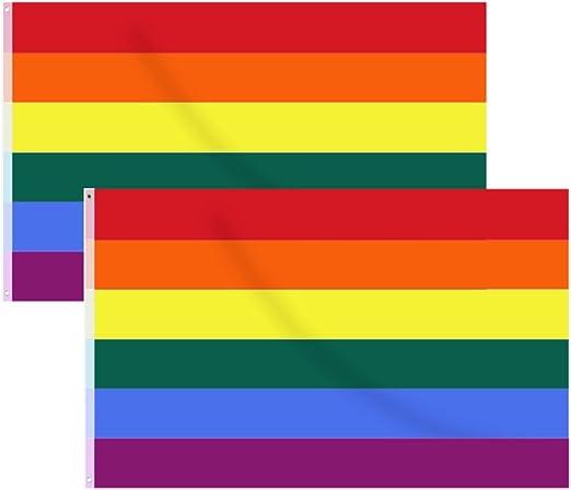 Hysagtek - 2 banderas de orgullo gay, diseño de bandera de arco ...