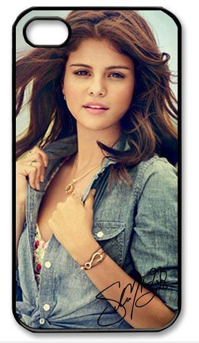 Selena Gomez Signed HD image case cover for iphone 4/4S black well-designed gift (Ferreira Dance And Costumes)