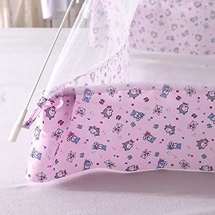 NO LOGO KF-Net Mignon Cartoon B/éb/é Moustiquaire Rose et Bleu Couleur Filet Enfants Support Filet de Lit Filet B/éb/é B/éb/é Mongol Yourte Rideau Rose 65x110CM
