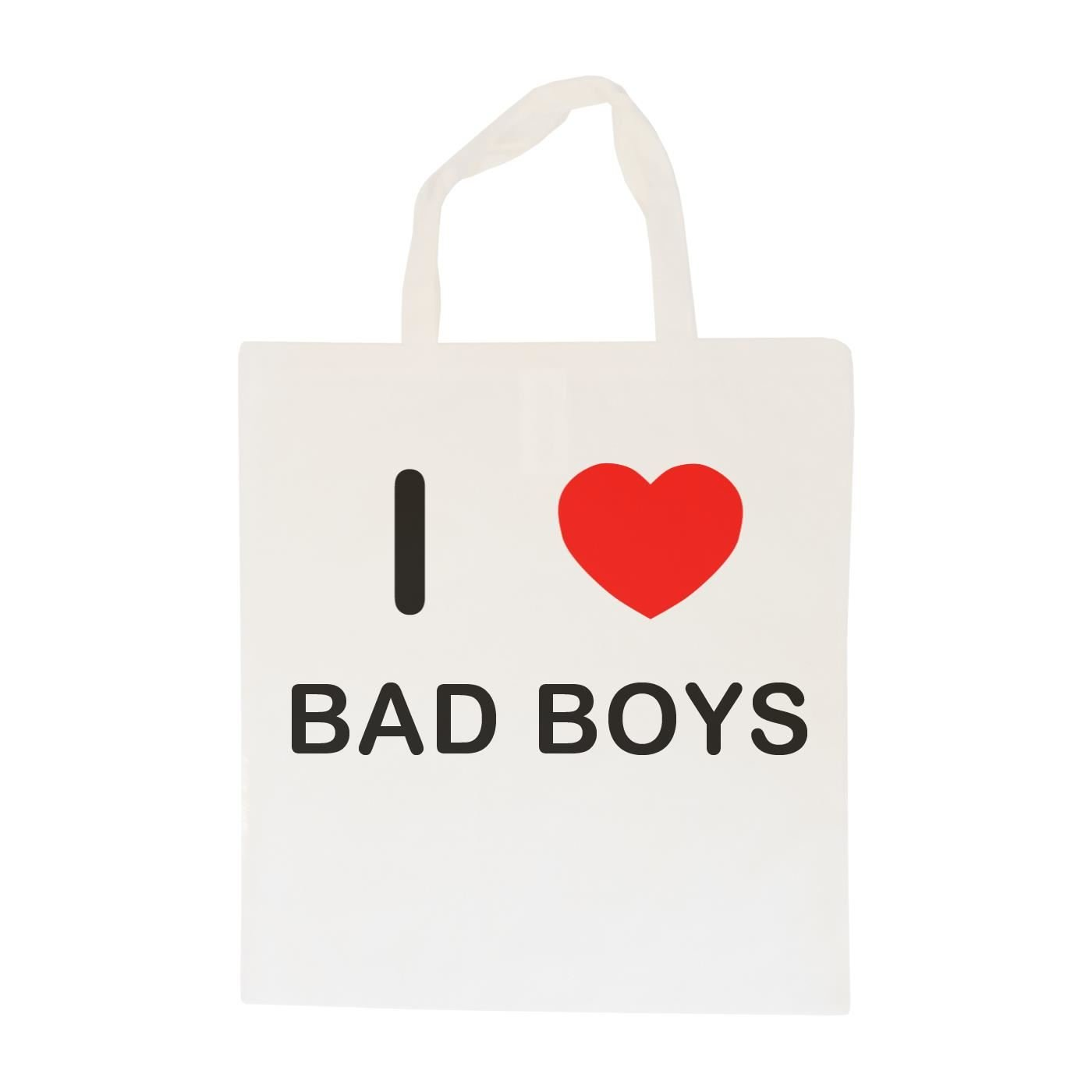 I Love Bad Boys Cotton Maxi Shopping Bag