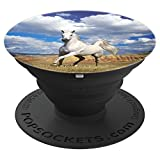 Jame's Designs: Arabian Horse In Field With Clouds PopSocket - PopSockets Grip and Stand for Phones and Tablets