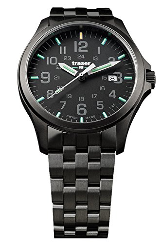 Traser P67 Officer Pro Gunmetal Black PVD Stainless Steel Men's Watch Swiss Made 107868