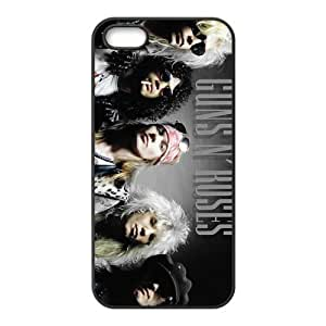 Guns And Roses Design Solid Rubber Customized Cover Case for iPhone 5 5s 5s-linda521