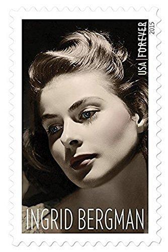 USPS Sheet Ingrid Bergman Forever Stamps, USA 2015 (Sweden Joint Issue), Set of - Usps Sweden