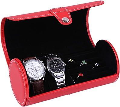Estuche Cilíndrico para Caja para Relojes Caja Joyero Organizador De Joyas Rose: Amazon.es: Equipaje