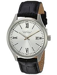 CARAVELLE NEW YORK Mens 43B143 Dress White Dial Watch