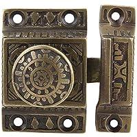 A29 Cabinet Latch Solid Brass Handmade Antique Brass Finish