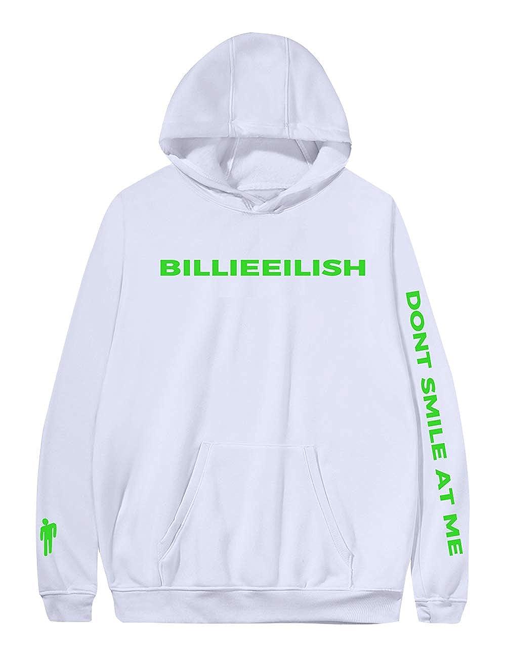 Billie Eilish Felpa When We all Fall Asleep Felpa con Cappuccio Hooded Pullover Ragazze Sweater Sweatshirt Donna Maglione Maniche Billie Eilish Felpa
