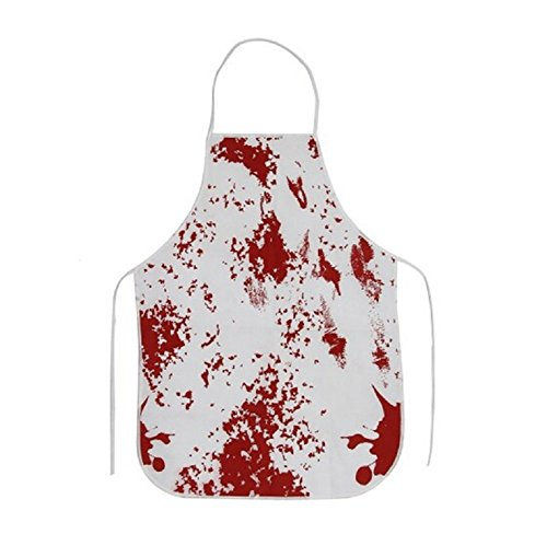 EBTOYS Bloody Apron Blood Bath Butcher's Apron Unisex Cook Adult for Halloween Party Costume