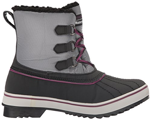 Polar Black Purple Waterproof Women's Boot Grey Snow Bear Skechers Highlanders 0wEIzFq