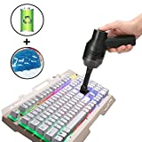 [2019 UPGRADED]Cordless Keyboard Cleaner - Portable Rechargeable Mini Computer Vacuum with Cleansing Gel,Good for Cleaning Dust, Hairs, Crumbs, Scraps for Laptop, Keyboard, Makeup Bag, Car, Pet House