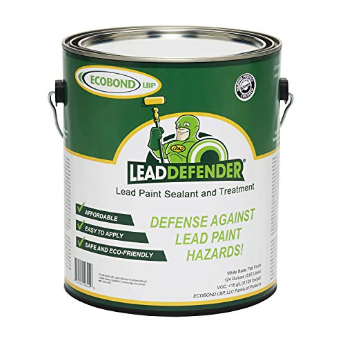 ECOBOND LBP Lead Defender Seal & Treat Lead Paint ECO-LBPLD-1001-LD Lead Defender, 1 Gallon, White