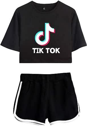 OHYOUNG TIK Tok Tracksuit Two Piece Women Crop Top and Short Set C00605TXDK