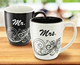 KOVOT Mr. and Mrs. Coffee Mug Set - Each Mug Holds 18 Ounces