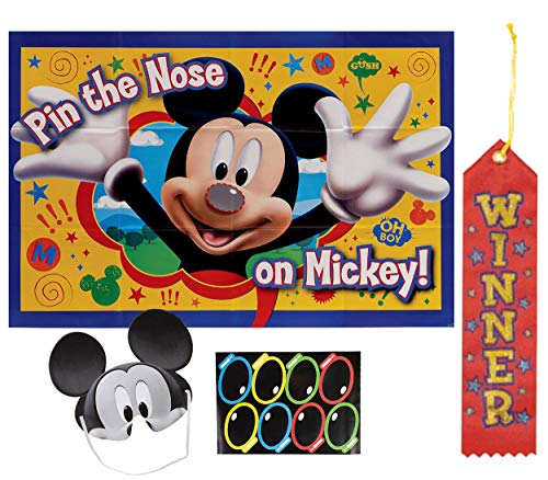 Mickey Mouse Pin The Tail on The Donkey Style Party Game with Blindfold & Stickers! Plus 1st Winner Ribbon! for $<!--$9.95-->