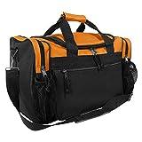 DALIX 17'' Duffle Bag Dual Front Mesh Pockets in Orange