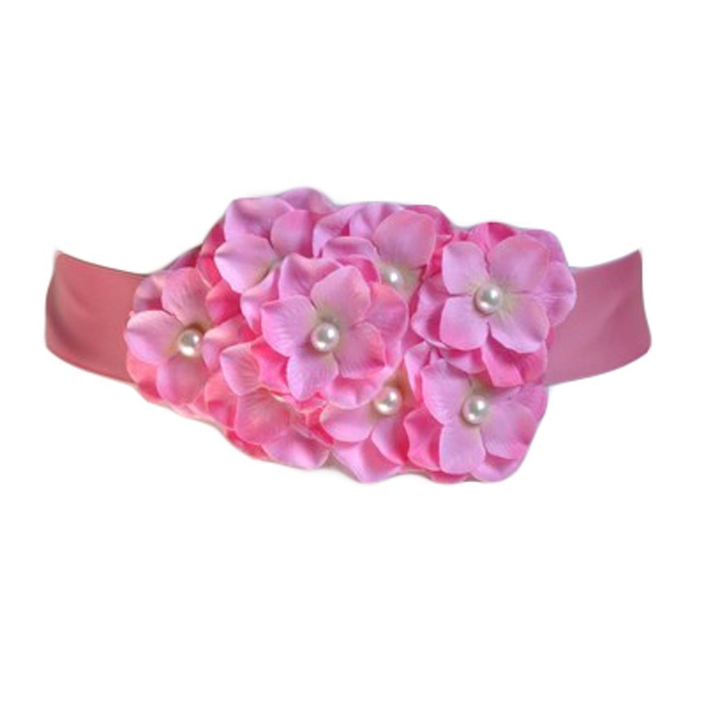 Flower Girls Sash Ribbon Belts Dresses Gown Belts Wedding Bridesmaid Silk Sash JB21 (6-Pink)