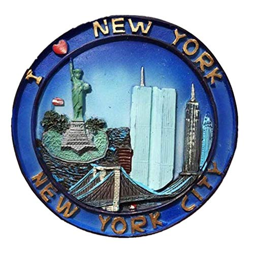 Refrigerator Magnets Resin 3D Funny New York Statue of Liberty World Trade Center USA City Travel Souvenirs Fridge Stickers Magnetic Fridge Magnet for Whiteboard Home Kitchen Decoration Crafts Gifts]()
