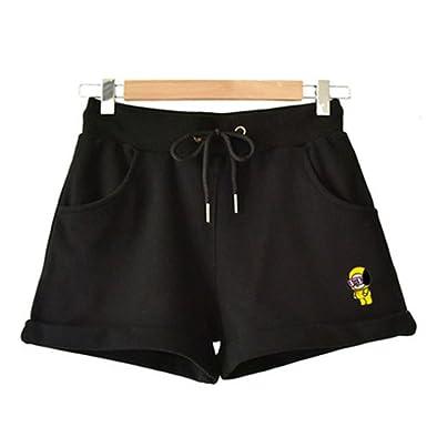 Unisex Kpop BTS BT21 Cartoon Short Pants Fans Pullover Hip Hop Short Pants for Men Women