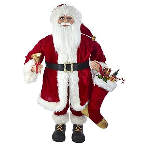 Image of Decorations Kurt Adler Kringles Red Standing Santa Christmas Décor, STD, Multicolored